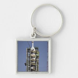 La fusée de Soyuz est érigée en le place Porte-clés