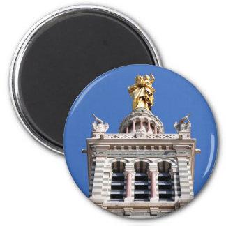 La Garde de Notre Dame De Magnet Rond 8 Cm