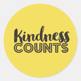 La gentillesse compte des autocollants