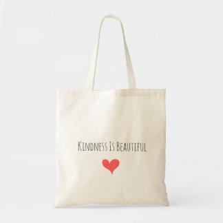 La gentillesse est beau Fourre-tout Sac En Toile Budget