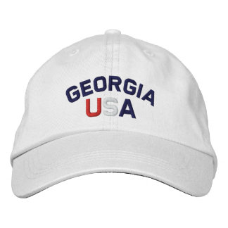La Géorgie Etats-Unis a brodé le casquette blanc