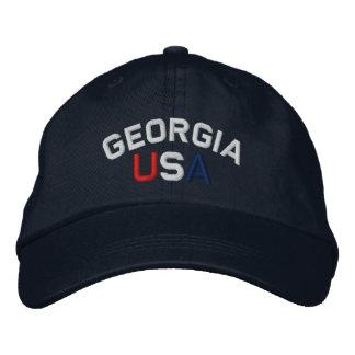 La Géorgie Etats-Unis a brodé le casquette de bleu