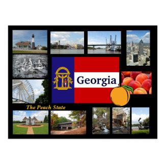 La Géorgie la carte postale d'état de pêche