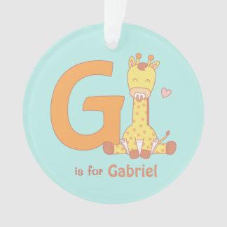 La girafe mignonne de bébé badine l'ornement de