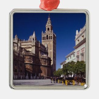 La Giralda de Séville, Espagne   Ornement Carré Argenté