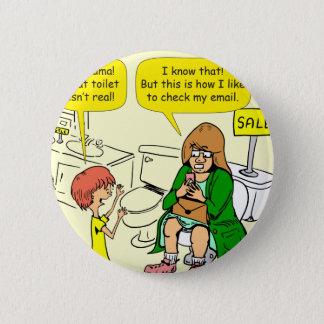 La grand-maman 903 vérifie la bande dessinée badge rond 5 cm