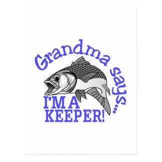 La grand-maman dit cartes postales