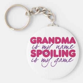 La grand-maman est mon nom porte-clé rond