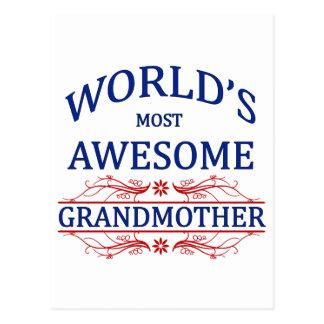 La grand-mère la plus impressionnante du monde carte postale