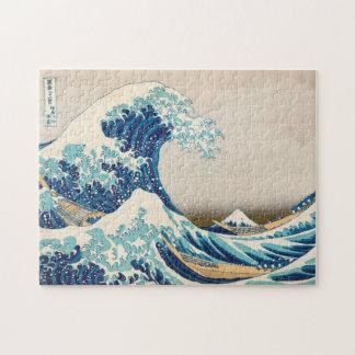 La grande vague au puzzle de Kanagawa