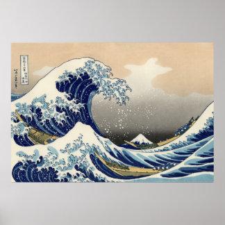 La grande vague outre de Kanagawa, Hokusai