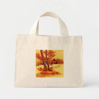 La grange rouge - mini tote bag
