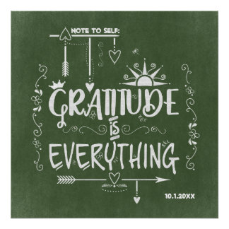 La gratitude est tout note au tableau d'individu