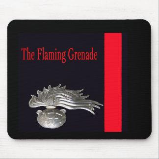 La grenade flamboyante Mousepad Tapis De Souris