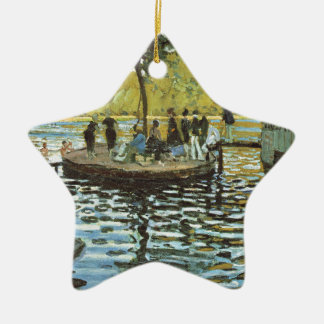 La Grenouillere - Claude Monet Ornement Étoile En Céramique