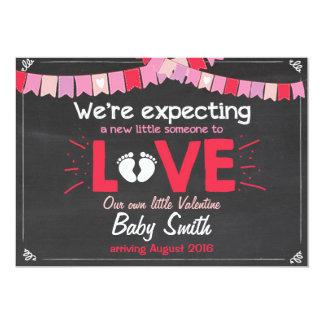 La grossesse de l'amour de Valentine indiquent le Carton D'invitation 12,7 Cm X 17,78 Cm