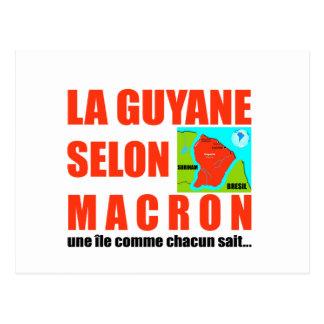La Guyane selon Macron est une île Carte Postale