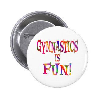 La gymnastique est amusement badge rond 5 cm
