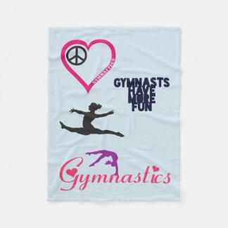La gymnastique est dans ma couverture de coeur