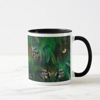La jungle observe la tasse d'art