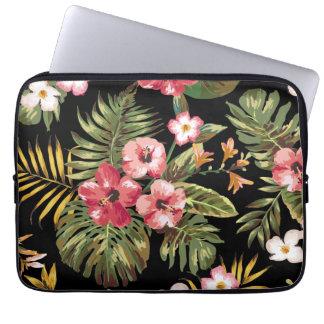 La ketmie tropicale fleurit la douille florale trousses pour ordinateur portable