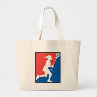 La lacrosse de la fille sac en toile jumbo