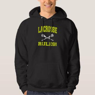 La lacrosse ordonne le sweatshirt à capuchon foncé