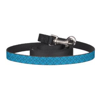La laisse de chien de kaléidoscope de bleus