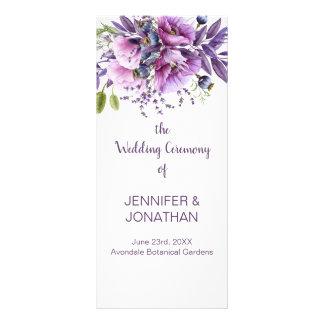 Carte Publicitaire La lavande pourpre violette fleurit le programme