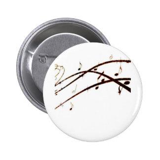 La lave musicale note des produits badge avec épingle