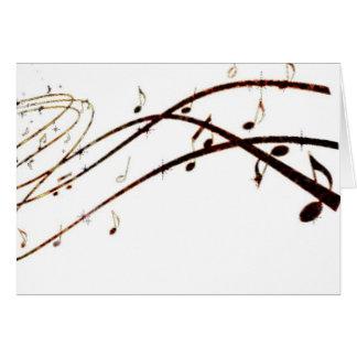 La lave musicale note des produits cartes de vœux