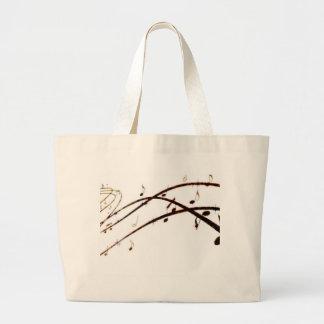 La lave musicale note des produits sacs en toile