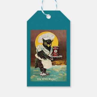 La levure magique du hibou étiquettes-cadeau