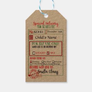 La livraison spéciale - étiquettes de cadeau de