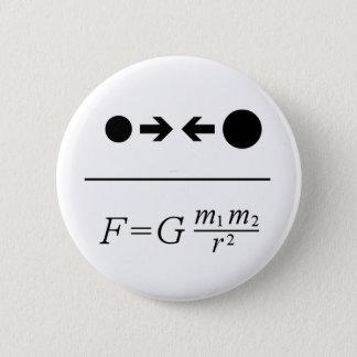 La loi de Newton de la gravitation Badge Rond 5 Cm