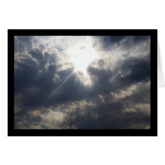 La lumière de Dieu par la chanson de nuages du Carte