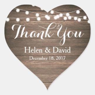 La lumière ficelle le Merci épousant des Sticker Cœur