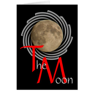 La lune, la lune, la luna, moon carte de