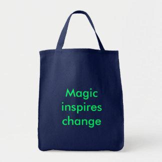 La magie inspire le changement sac en toile épicerie