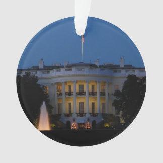 La Maison Blanche de Noël la nuit dans le