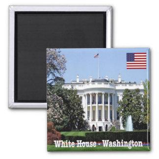La Maison Blanche des USA Etats-Unis d'Amérique Magnet Carré