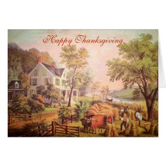 La maison de l'agriculteur - carte de thanksgiving