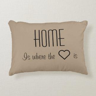 La maison est où le coeur est coussin