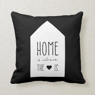 La maison est où le coeur est - coussin inspiré