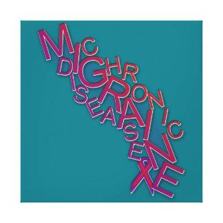 La maladie chronique de migraine - bousculade de toile