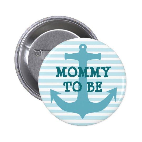 La maman à être bébé turquoise d'Ancor a barré le Badge Rond 5 Cm