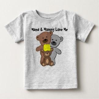 La maman et la maman m'aiment t-shirt pour bébé