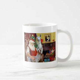 La maman Llama et bébé de Père Noël Mug Blanc