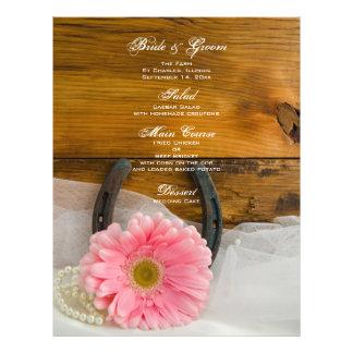 La marguerite rose perle le menu en fer à cheval prospectus 21,6 cm x 24,94 cm