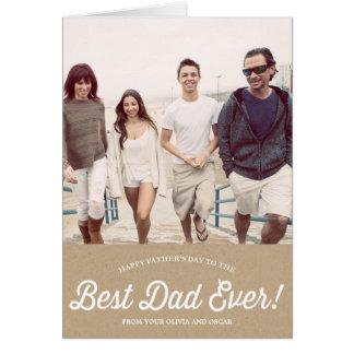 La meilleure carte de papier de fête des pères du